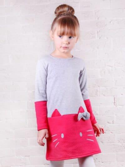 детские платья трапеция с длинным рукавом