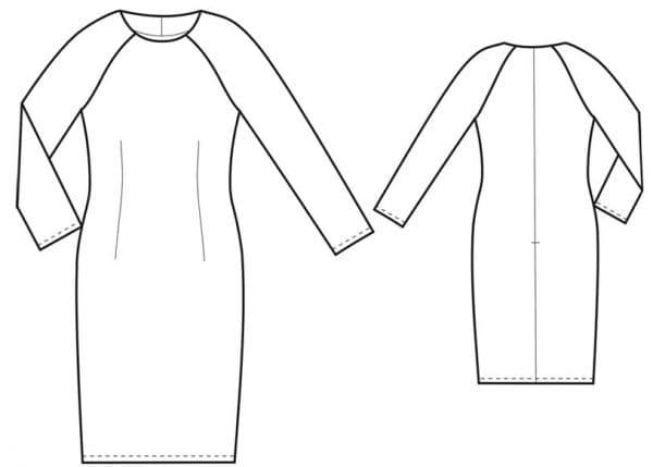 детские платья трапеция с длинным цельнокроеным рукавом
