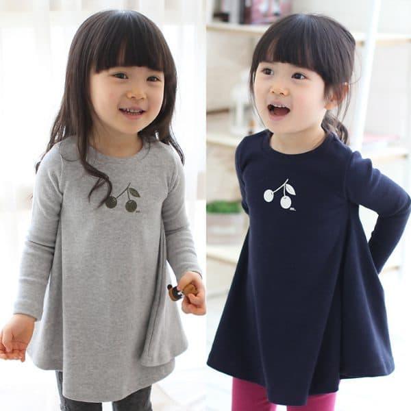 детское платье туника с длинным рукавом