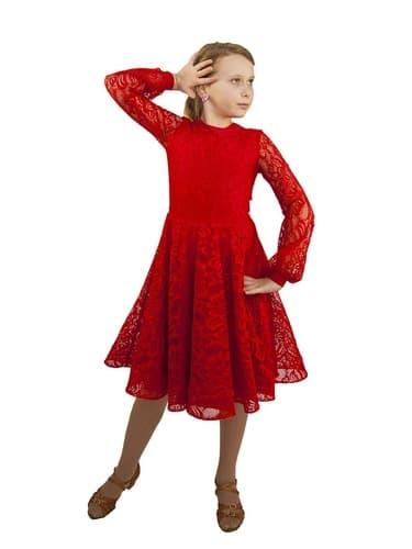 детское платье с отрезной талией с длинным рукавом