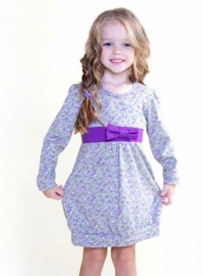 детское платье баллон с длинным рукавом