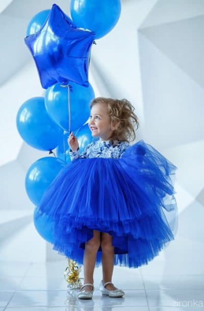 детское платье с длинным рукавом из фатина