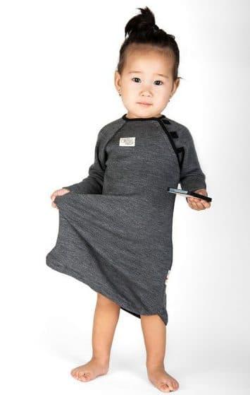 детское платье с длинным рукавом из шерсти