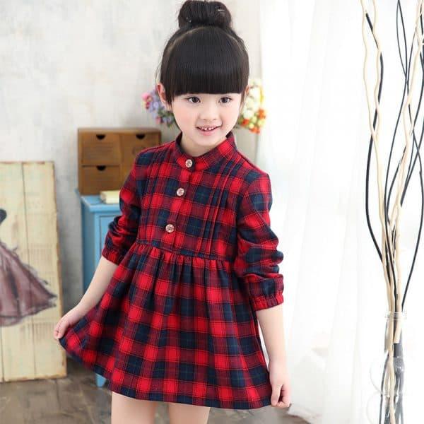детское платье с длинным рукавом из бамбука