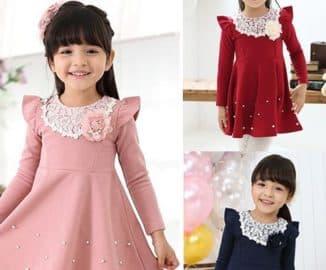 детские платья с длинным рукавом