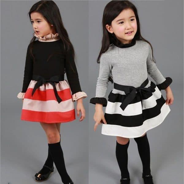 детское платье с длинным рукавом и туфельки