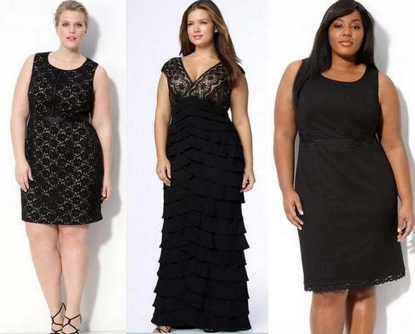 маленькое черное платье на свадьбу для полных