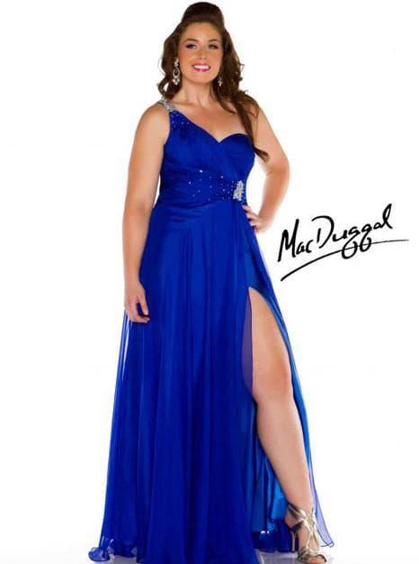 нарядные платья для полных женщин на свадьбу Mac Duggal