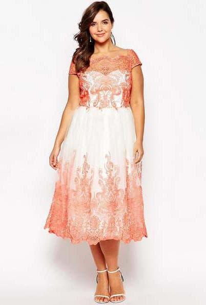 нарядные платья для полных женщин на свадьбу Chi Chi