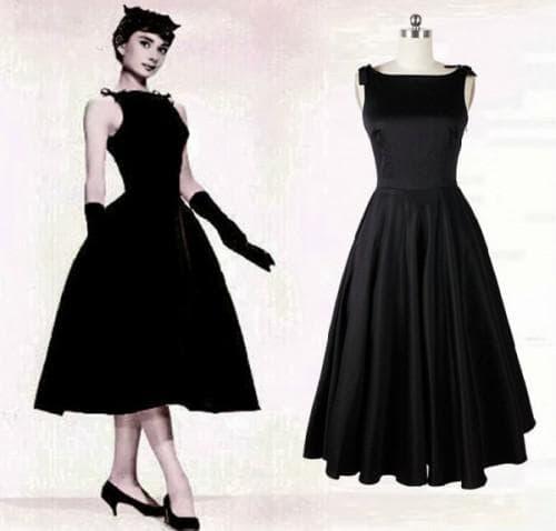 маленькое чёрное платье в стиле одри хепберн