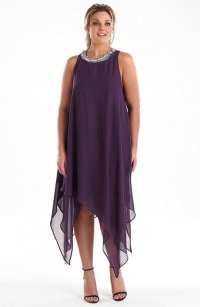 платье трапеция из шифона для полных
