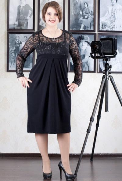платье со складками большого размера
