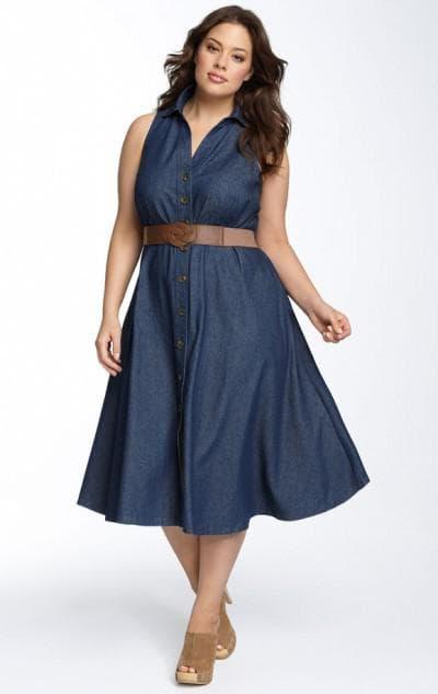 платье трапециевидной формы большого размера