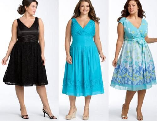 платья на лето для полных