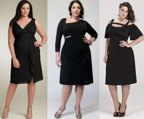 платье чёрного цвета для полных