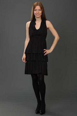 чёрное женские платья от Живанши