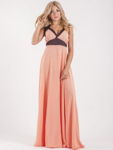 греческое платье персикового цвета большого размера