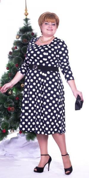 платье в горох большого размера