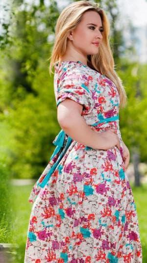 платье цветочный принт большого размера
