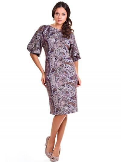 платье с рукавами в форме фонарика для женщин 50 лет