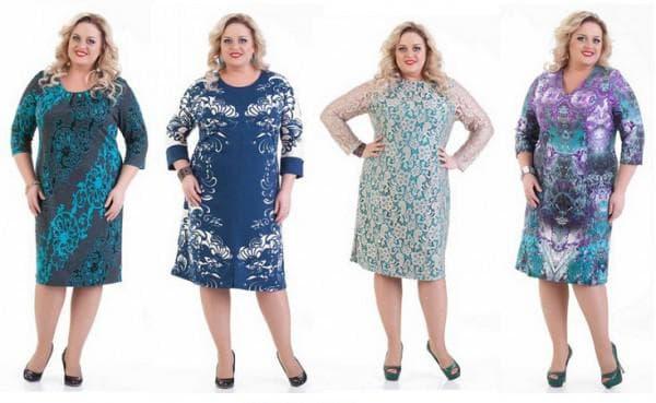 платье свободного кроя с расклёшенной юбкой для женщин 50 лет