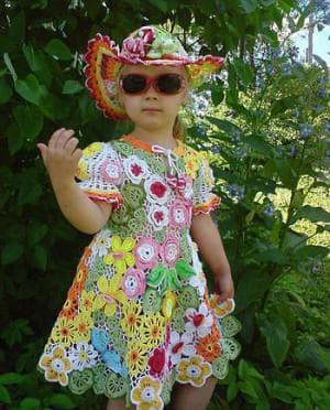 детское платье из ирландского кружева от Babolat