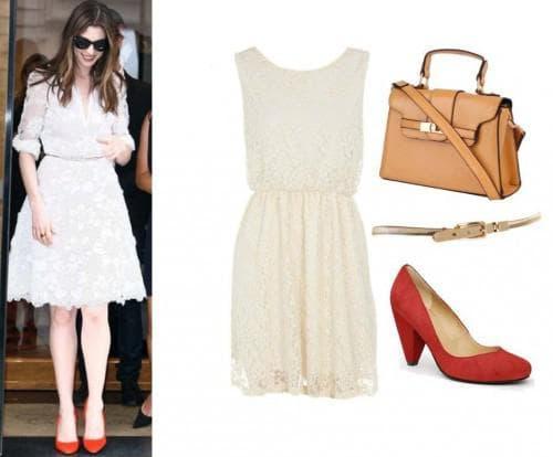 аксессуары для кружевного платья белого цвета