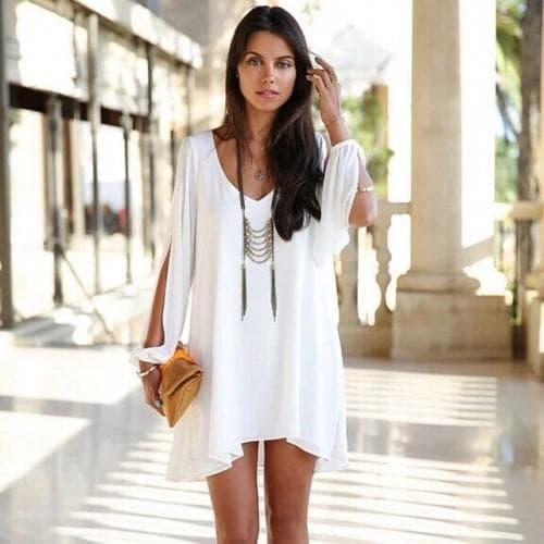 аксессуары для платья туники белого цвета