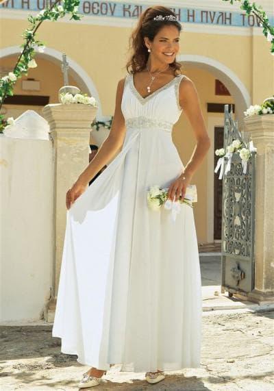 аксессуары для греческого платья туники белого цвета