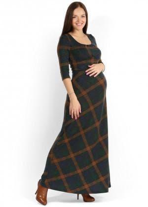 длинное трикотажное платье для беременных