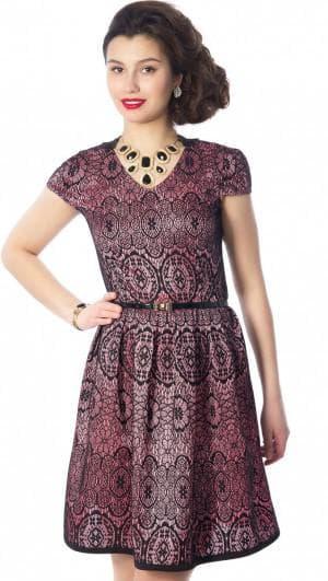 платье песочные часы из купонной ткани