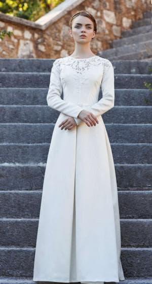 минималистическое платье для венчания