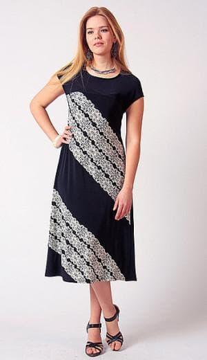 платье А силуэт из купонной ткани большого размера