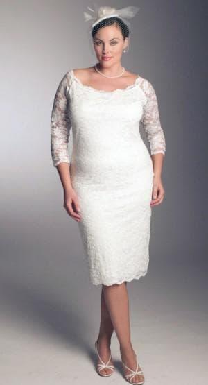 платье для венчания для взрослых дам