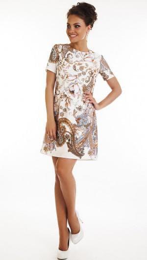 короткое итальянское платье из натурального шелка