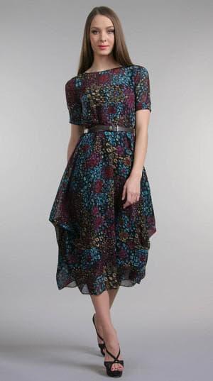 итальянское платье сиреневого цвета из натурального шелка