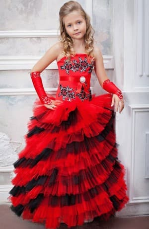 новогодние многослойное платье для девочек 12 лет
