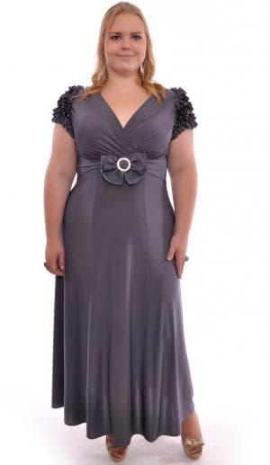 вечернее платье с рюшками для больших женщин