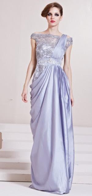 длинное вечернее итальянское платье из натурального шелка