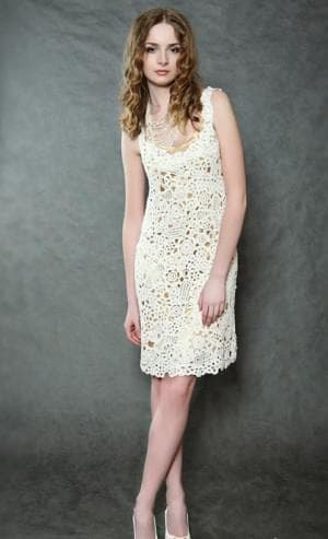 летнее платье из ирландского кружева