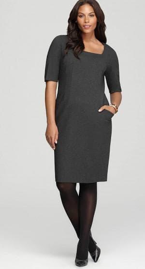 платье футляр для больших женщин