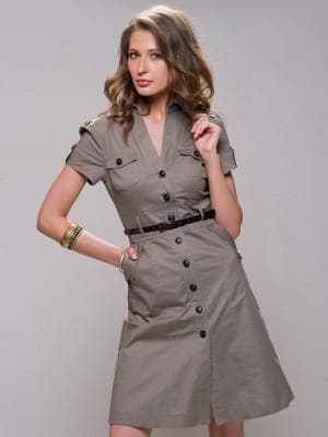 платье рубашка на пуговицах спереди