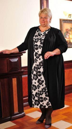 платье для больших женщин из Индии