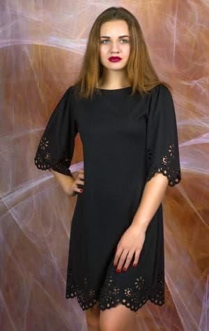 прямое платье французской длины
