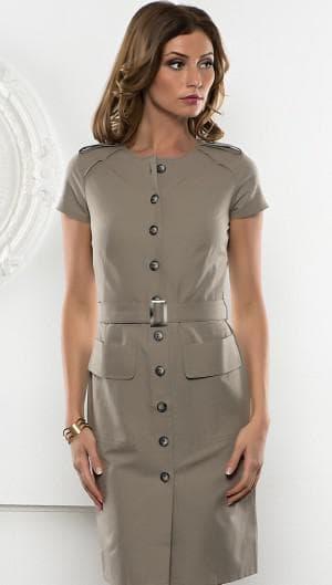 платье без бретелей на пуговицах спереди