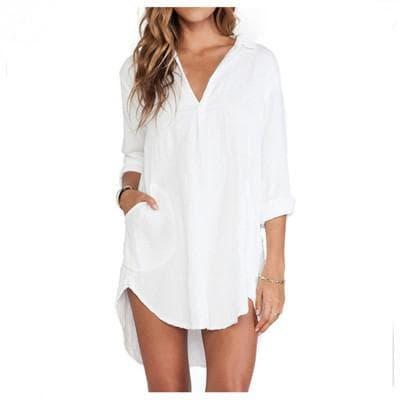 аксессуары для платья рубашки белого цвета