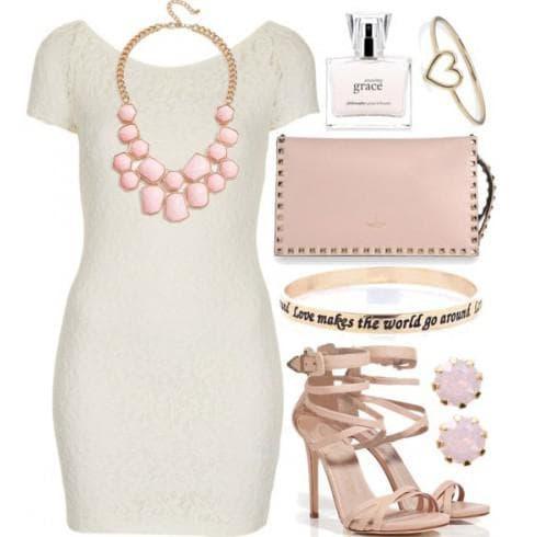 аксессуары для платья футляр белого цвета
