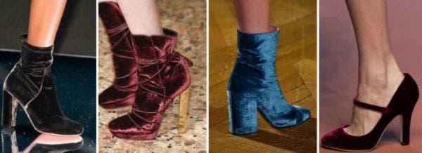 замшевая обувь для бархатного платья