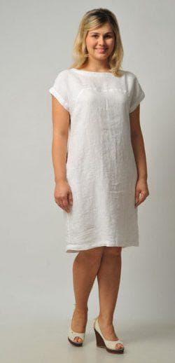 платье трапеция из льна для полных
