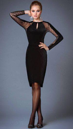 деловое платье из бархата с кружевом